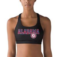 футбол оптовых-Alabama Crimson Tide football logo Кокосовая пальма 100% полиэстер Жилет Дышащий топ для йоги Быстросохнущий бюстгальтер для йоги Эластичный бесшовный Y