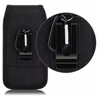 ingrosso clip flip cintura clip-Universale Sport Nylon Belt Clip Holster Cellulare Casi di cuoio del sacchetto per Iphone Samsung Huawei Moto LG Marsupio Bag Cover flip Moblie