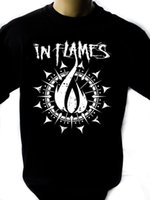 Wholesale new loom bands online - In Flames Band Black New T Shirt Fruit of the Loom ALL SIZES