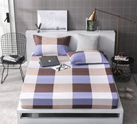 Wholesale purple bedding king size online - Elegant lattice pc Fitted Sheet and case Mattress Cover Linens With Elastic Band Twin Full Queen Size Bed Sheets