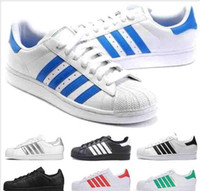 Wholesale shoes flexible soles for sale - Group buy Cheap Sperstars Shoes Best Casual Shoes Flexible Soles Classic White Black Red Green Blue Super Star s Leather Flats mens womens sneakers