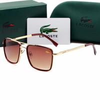 óculos de sol masculinos venda por atacado-Crocodilo 138 Novos Óculos de Metal dos homens Adultos Óculos De Sol Das Senhoras Designer de Moda Óculos Pretos Meninas Condução óculos de Sol embalagem