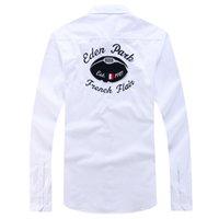 chemise xxl al por mayor-Homme Chemise New Eden Park Camisa de manga completa para hombre Diseño de alta calidad con estilo de negocios Estilo casual Algodón talla M L XL XXL Hombres Shippin gratis