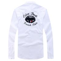 xxl kimyası toptan satış-Homme Chemise Yeni Eden Parkı Tam Kollu Gömlek Erkekler Için Yüksek Kalite Güzel Tasarım Iş Rahat Tarzı Pamuk boyutu M L XL XXL Ücretsiz Denizcilikte erkekler