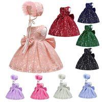 bonito emagrecimento vestidos venda por atacado-Princesa Do Bebê bonito Bowknot Vestidos de Festa Formal Vestidos de Renda Ocasional Magro Vestido de Dança Túnica Fotografia Traje TTA633