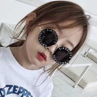 çocuklar için bardak aksesuarları toptan satış-Steampunk Arı Çocuk Güneş Erkek Kız Lüks Vintage Çocuk Güneş Yuvarlak Güneş Gözlükleri ulculos Feminino Aksesuarları