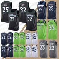 Wholesale rose for sale - 25 Rose jersey Timberwolves Jersey Towns Wiggins Jerseys new hot sale Basketball T shirt
