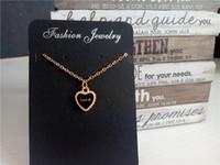 ingrosso gioielli che fanno gli accessori della porcellana-cecmic oro nero amore cuore pendente accessori gioielli catene collana accessori singapore design originale cina forniture