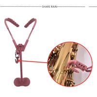 Wholesale High Quality Pink saxophone straps shoulder straps shoulder straps children s adult universal Swiss protection cervical vertebra