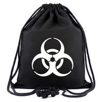 mochilas de maravilla al por mayor-Nueva llegada Marvel Super Hero Resident Evil Logo Bolsas de lazo Mochilas de viaje Bolsa de almacenamiento
