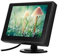 high-definition-monitore großhandel-4,3 zoll TFT LCD Parkplatz Rückfahrkamera Monitor Auto Rückfahrkamera Backup Monitor 2 Videoeingang für Rückfahrkamera DVD High Definition Kostenloser Versand
