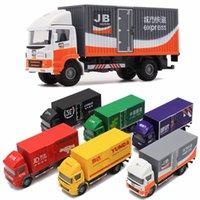ingrosso lega espressa-1:50 Die Cast Model Cars scala automobile Veicolo in lega gld3 Giocattoli per bambini 1/50 Trasporti Camion Express Fedex Container Trucks
