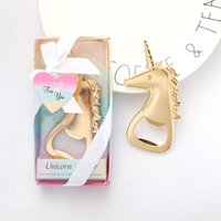 Wholesale bottle opener baby shower favors resale online - Ywbeyond Gold Unicorn Bottle Opener High Hardness Unicornio Shape Openers For Birthday Party Baby Shower Favors Gifts