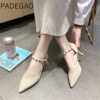 ingrosso i sandali coreani del pattino delle signore-Womens Sandals Punta a punta Coreano Tacchi alti Rivet Designer di lusso Giallo Scarpe casual da donna