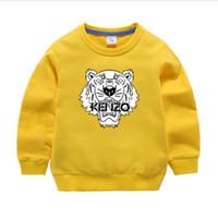 kızlar hoodie sweaters toptan satış-KNZO 2019 Çocuklar marka Hoodie Sonbahar Çocuk Uzun Kollu Bebek Kız Erkek Ceket Çocuklar Pamuk Tops Spor Casual Tees Kazak