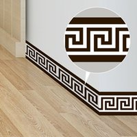 Wholesale wall wallpaper for bedroom for sale - Group buy Greek Wallpaper Borders Geometric Pattern Waist Lines Self Adhesive Waterproof Removable Wall Stickers for Home Decor cm FFA2192