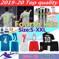 nueva jersey de futbol al por mayor-Nuevo 2019 2020 RONALDO JUVENTUS Conjunto de fútbol 19 20 JUVE Local Visitante DYBALA HIGUAIN BUFFON Camisetas Futbol Camisas Maillot Football Shirt
