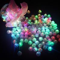 ingrosso palloncini bianchi giallo rosa-100 pz / lotto palla rotonda led luci di palloncino mini flash lampade per lanterna natale decorazione della festa nuziale bianco, giallo, rosa J190706