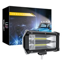Wholesale 72w car led light bar for sale - Group buy 72W Waterproof Flood LED Work Lights Jeep Off Road Light Bar LED Driving Fog Lights with Mounting Bracket for Jeep Off road Truck Car