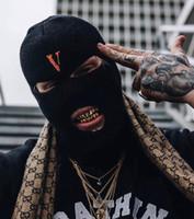 Wholesale ear muffs mask resale online - 2019 New Hip Hop Bandit Headgear Big VLONE POP STORE Guerrilla Limited Bandit Mask Cold Hat