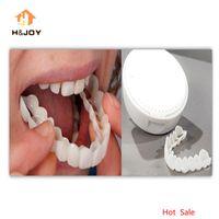 ingrosso i regali di nozze più popolari-Nuovo odontoiatria cosmetica Snap on Smile Instant Perfect Smile Comfort Fit Denti flessibili Si adatta alla maggior parte dei denti falsi Coperchio del dente bianco superiore
