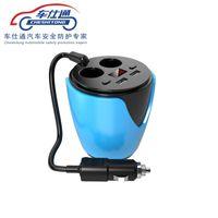 carregador de telefone multi para carro venda por atacado-2 USB Car Charger Multi-função Tensão Display 3.1A Car-carregador DC12-24V Para GPS DVR telefone móvel Tablet PC Carga