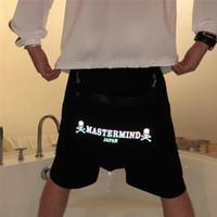 abnehmbare shorts männer großhandel-Mastermind Japan Shorts 2019 Buntes reflektierendes Skelett Mastermind Japan Shorts Abnehmbare Gesäßtasche Mmj Men World