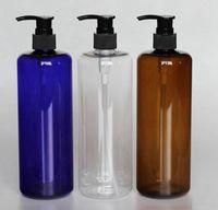 Wholesale plastic bottles for cosmetic resale online - 500ml Empty PET Bottle Plastic Liquid Shampoo cosmetics packaging bottles PET plastic bottle for Pump Shampoo Bottle KKA7922