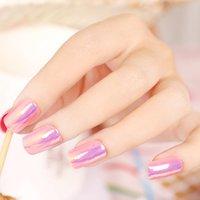 gefälschte nägel farben großhandel-Presse auf Fashion High Light Künstliche Nägel Multiple Color reflektierende Spiegel Voll Drücken auf Nagel-Spitzen 6 Farben wählen faux ongles