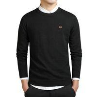 novo mais tamanho roupa venda por atacado-Mens hoodies jaqueta casaco Nova Moda Masculina Inverno Bordado Camisolas O Pescoço Manga Longa De Malha Sweatercoat Importado-roupas Plus Size 3XL