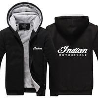 camisola encapuçado venda por atacado-2019 inverno hoody Motocicleta Indiano Das Mulheres Dos Homens Engrossar outono Hoodies roupas camisolas Zipper jaqueta de lã com capuz streetwear