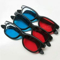 Wholesale computers laptops accessories for sale - Red blue stereo computer protection glasses colorful computer work Eye protection laptop accessories good friends gifts LJJQ182