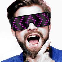 gafas de sol de flash al por mayor-Modos de animación Gafas LED recargables Gafas de sol Bola de fiesta Eyemask, Sunglass Recargable Flashing Music Festival Light Up El Party Led