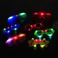 nuevo led dj al por mayor-Lote Nuevas gafas Led luminiscentes Bar de discoteca Gafas DJ Fiestas decorativas Accesorios decorativos para hombres y mujeres