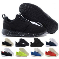 zapatos hombres corriendo logo al por mayor-NIKE ROSHERUN designer men's and women's shoes high quality mesh running shoes with logo