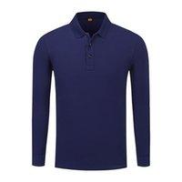 мужские лиловые рубашки поло оптовых-2019 летняя мода мужская и женская с длинным рукавом хлопок футболка фиолетовый поло равномерное SD-7989-297