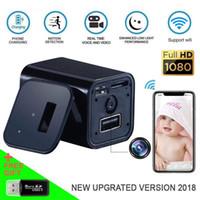 câmera de movimento de parede venda por atacado-WIFI Câmera Soquete Câmera USB parede telefones Carregador Câmera Mini DV Detecção de Movimento Plugues Mini Câmeras Home / Office Câmeras de segurança