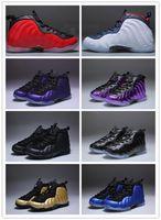 menino de espuma venda por atacado-2019 novo Com Caixa Unisex Crianças Penny Hardaway Espuma Um Sapatos de Basquete Meninos Roxo Esportes Meninas Sneakers para Crianças Criança Adolescente Atlético