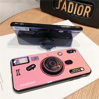 blu abdeckung fall großhandel-Kickstand Blu-ray 3D-Kamera-Handyhülle für iPhone 7 8 X XR XS MAX mit Halterung