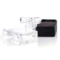 Wholesale perfume bottles cosmetic containers resale online - Clear Black Portable Perfume Spray Bottles ml Empty Glass Cosmetic Containers With Atomizer For Skin Care Water E juice Eliquid Perfuma