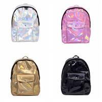 Wholesale travel backpacks resale online - Glitter Hologram Laser Travel Backpacks Fashion Teenage Girls Shoulder School Book Backpacks Woman Travel Waterproof Bag LJJT472