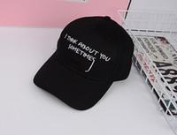 sombreros del snapback de corea al por mayor-Corea Moda Hombres Deporte Carta Bordado Gorras de Béisbol Adulto Caliente Casual Hip Hop Snapback Sombrero Mujeres Casquette Gorras Curvo