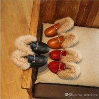 invierno botas de piel niños al por mayor-Vieeolove Girls Kids piel botas de flores zapatos 2019 nuevo otoño invierno princesa vestido casual sandalias botas zapatos EE-1128