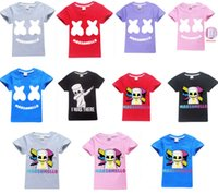 Wholesale free baby clothes for sale - Baby boys girls Marshmello T Shirt DJ Music cotton T shirt for summer children wear kids cute casual clothes DHL fast shipping free