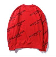 marca de suéter para niños al por mayor-Nueva moda hombre suéter marca LUΧURY mujer sudadera diseñador bordado ropa sudaderas con capucha chico BΑLENCΙAGA sudaderas # 113