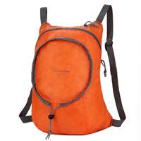 Wholesale orange shoulder bags for sale - Group buy Folding Bag Leisure Both Shoulders Package Men Women Super Light Water Proofing Camping Convenient Orange Black Durable cj C1