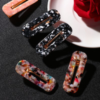 ingrosso accessorio giapponese dei capelli-2 pezzi Japan Women Acetic Acid Hair Clips Forcine Leopard Print Waterdrop Barrettes Girls Hairgrips Accessori per capelli