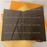 Wholesale mens card wallets resale online - Aber Pocket Organiser NM Popular Customization mens Real leather wallets credit card holder men purse id wallet bifold bags dust with box