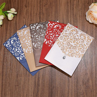 Wholesale card wedding invitations red for sale - Hollow Out Invitations Cards Laser Wedding Invitation Card Vintage White Red High Quality Pearlescent Paper Simple aw D1