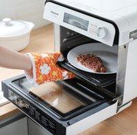 mikrowelle heiße handschuhe großhandel-HEISSE Verkaufs-Ofen-Handschuh-nette Küche liefert Baumwolldicke Mikrowellenherdhandschuhe Heiße Isolierungshandschuhe der Hochtemperatur